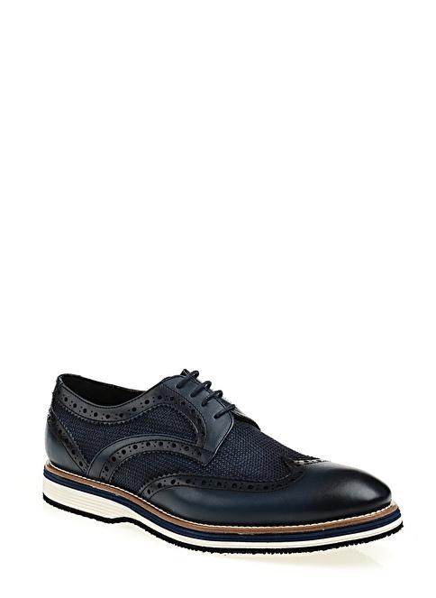 Stoneblue %100 Deri Casual Ayakkabı Lacivert